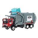 billige Toy Trucks & Construction Vehicles-Dumper Garbage Recycling Truck Leketrucker og byggebiler Lekebiler 1:24 Inntrekkbar Metallisk Plast ABS 1 pcs Barne Gutt Jente Leketøy Gave