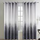billige Gardiner ogdraperinger-To paneler Window Treatment Rustikk Stue Polyester Materiale gardiner gardiner Hjem Dekor For Vindu
