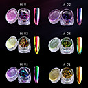cheap Other Nail Tools-1pc / 1box Glitter Powder 6 colors nail art Manicure Pedicure Classic / Pastel / Bling Bling
