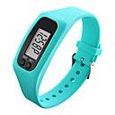 baratos Smartwatches-Homens Mulheres Relógio Esportivo Relógio de Pulso Relogio digital Digital Pedômetros LCD Legal Borracha Banda Digital Preta / Branco / Azul - Vermelho Verde Azul / Colorido