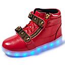 preiswerte Mädchenschuhe-Jungen Schuhe Künstliche Mikrofaser Polyurethan Frühling Herbst Leuchtende LED-Schuhe Neuheit Komfort Sneakers LED Klettverschluss für