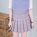 cheap Camp Kitchen-Women's Cotton A Line Skirts - Check