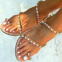 cheap Wetsuits, Diving Suits & Rash Guard Shirts-Women's Shoes PU(Polyurethane) Spring / Summer / Fall Sandals Low Heel Rhinestone Brown / Party & Evening / Party & Evening