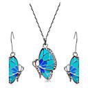baratos Conjuntos de Bijuteria-Mulheres Cristal Conjunto de jóias - Strass Borboleta, Animal Incluir Azul Para Casamento Festa Diário