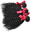 billige Hårstykker-3 pakker Brasiliansk hår Krøllet / Kinky Curly / Krøllete Weave Ekte hår Menneskehår Vevet Hårvever med menneskehår Hairextensions med menneskehår / Kinky Krøllet