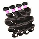 رخيصةأون شعر انسان-شعر مستعار طبيعي موجات الشعر الطبيعي هيئة الموج شعر برازيلي 400 g سنة
