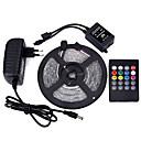 رخيصةأون أضواء شريط LED-5m مجموعات ضوء 300 المصابيح 3528 SMD RGB تحكم عن بعد / قابل للقص / تخفيت 100-240 V / قابلة للربط / مناسبة للالسيارات / اللصق التلقي / لون التغير / IP44