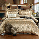 cheap 3D Duvet Covers-Duvet Cover Sets Floral Silk / Cotton Blend Jacquard 4 Piece