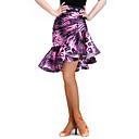 رخيصةأون ملابس رقص لاتيني-الرقص اللاتيني بنطلونات وفساتين نسائي التدريب سباندكس / مخمل نموذج / طباعة ارتفاع متوسط الالتفاف