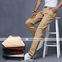 cheap Wedding Shoes-Men's Cotton Slim Suits Chinos Pants - Solid Colored