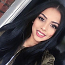 cheap Human Hair Wigs-Human Hair Lace Front Wig Brazilian Hair Straight Wig 130% Density 22 inch with Baby Hair Natural Hairline African American Wig 100% Hand Tied Women's Long Human Hair Lace Wig