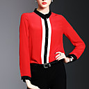cheap Modern Shoes-Women's Going out / Work Street chic / Sophisticated Shirt - Solid Colored Shirt Collar / Spring / Summer