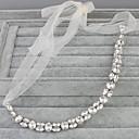 baratos Acessórios de Cabelo-Cristal Headbands com 1 Casamento / Ocasião Especial Capacete