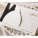 رخيصةأون ديكورات الزفاف-طية ثلاثية دعوات الزفاف 50 - بطاقات الدعوة ستايل كلاسيكي أوراق البطاقة
