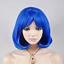 abordables Pelucas Sintéticas de Malla-Pelucas sintéticas Ondulado Amplio Pelo sintético Azul Peluca Mujer Corta Sin Tapa