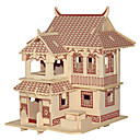 cheap 3D Puzzles-Jigsaw Puzzles Wooden Puzzles Building Blocks DIY Toys  JianGnan Style House C 1 Wood Ivory Model & Building Toy