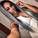 cheap Eyeshadows-Synthetic Lace Front Wig Straight Synthetic Hair Natural Hairline Gray Wig Women's Long Lace Front