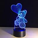 رخيصةأون الحلقان-1 قطعة ليلة 3D تحكم عن بعد ليلة الرؤية قياس صغير لون التغير فني LED الحديثة / المعاصرة