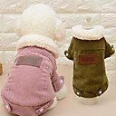 preiswerte Hundekleidung-Katze Hund Mäntel Hundekleidung Solide Kaffee Rosa Plüsch Kostüm Für Haustiere Herrn Damen Lässig/Alltäglich Modisch