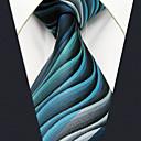 baratos Acessórios Masculinos-Homens Fofo Festa Trabalho Raiom, Gravata - Básico Geométrica Estampa Colorida Jacquard