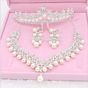 cheap Jewelry Sets-Rhinestone / Imitation Pearl Imitation Pearl Jewelry Set 1 Necklace / 1 Pair of Earrings / 1 Hair Jewelry - For Wedding / Party / Special