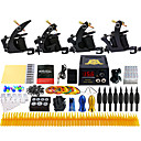 cheap Starter Tattoo Kits-Solong Tattoo Tattoo Machine Professional Tattoo Kit - 4 pcs Tattoo Machines, Professional LCD power supply Case Not Included 4 alloy machine liner & shader