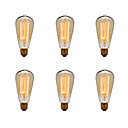 preiswerte Modische Halsketten-Ecolight™ 6pcs 40W E26 / E27 ST64 2300k Glühbirne Vintage Edison Glühbirne 220-240V