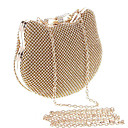 cheap Clutches & Evening Bags-Women's Bags Metal Evening Bag Crystal / Rhinestone Gold / Silver