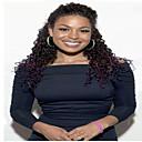 olcso Emberi hajból készült parókák-Remy haj Tüll homlokrész Csipke eleje Paróka Kinky Curly Paróka 150% 180% Haj denzitás Természetes hajszálvonal Afro-amerikai paróka 100% kézi csomózású Női Rövid Közepes Hosszú Emberi hajból készült