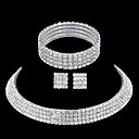cheap Jewelry Sets-Rhinestone Jewelry Set - Rhinestone Include Silver For Wedding / Party / Casual