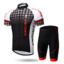 cheap Flashlights & Camping Lanterns-XINTOWN Men's Short Sleeve Cycling Jersey with Shorts - Black / Red / 1# / White+Gray Bike Clothing Suit, Breathable, Quick Dry, Ultraviolet Resistant, Back Pocket, Sweat-wicking Lycra Gradient