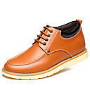 baratos Bolsas de Ombro-Homens Sapatos de couro Couro Primavera / Outono Oxfords Prova-de-Água Preto / Amarelo / Marron / Festas & Noite