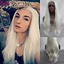 cheap Bed Pillows-Synthetic Lace Front Wig Natural Wave Synthetic Hair Natural Hairline White Wig Women's Long Lace Front