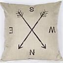 tanie Rzuć poduszkami-1 szt Bielizna / Syntetyczny Pokrywa Pillow, Geometryczny Modern / Contemporary