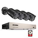 baratos Kit DVR-zosi® 8 canais 1080 n hd-tvi dvr kit de câmera de vigilância 4 x 1280tvl interior ao ar livre ir à prova de intempéries câmeras 1 tb