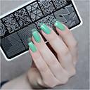 abordables Estampados para Uñas-1pcs Estampado de placa Modelo arte de uñas Manicura pedicura Moda Diario / Placa de estampado / Acero