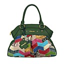 cheap Totes-Women's Bags Cowhide Tote Geometric Jade / Emerald Green