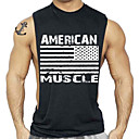 cheap Cycling Pants, Shorts, Tights-Men's Sports / Beach Active Cotton T-shirt - Letter Racerback / Print Round Neck / Sleeveless