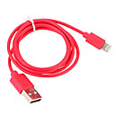 billige Kabler & Oplader-USB 3.0 / Belysning Kabel / Opladerkabel / Opladerledning Normal Kabel iPad / Apple / iPhone for 100 cm Til Plast