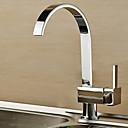 cheap Bathroom Sink Faucets-Contemporary Standard Spout Vessel Rotatable Ceramic Valve Single Handle One Hole Chrome , Kitchen faucet