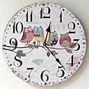 baratos Relógios de Parede Modernos/Contemporâneos-Moderno/Contemporâneo Madeira Plástico Outros AA