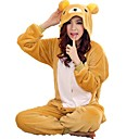 cheap Kigurumi Pajamas-Adults' Kigurumi Pajamas Bear Onesie Pajamas Coral fleece Yellow Cosplay For Men and Women Animal Sleepwear Cartoon Festival / Holiday Costumes
