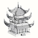 cheap 3D Puzzles-3D Puzzle Jigsaw Puzzle Metal Puzzle Famous buildings Chinese Architecture Creative Cool DIY Chic & Modern Elegant & Luxurious Chinese Style Boys' Girls' Toy Gift