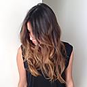 hesapli Gerçek Saç Örme Peruklar-Gerçek Saç Ön Dantel / Tutkalsız Dantel Ön Peruk Vücut Dalgası % 130 Yoğunluk Ombre Saç / Doğal saç çizgisi / Afrp Amerikan Peruk Kadın's Şort / Orta / Uzun Gerçek Saç Örme Peruklar