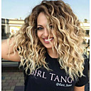 cheap Synthetic Capless Wigs-women's synthetic wigs ombre two tone strawberry blonde wigs long wavy wig Synthetic Hair Ombre Hair / Dark Roots / Middle Part Medium Length Capless Wig