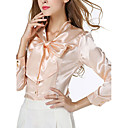 cheap Eyeshadows-Women's Going out / Beach Blouse - Solid Colored Stand / Spring / Summer / Lace up