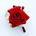 baratos Bouquets de Noiva-Bouquets de Noiva Buquês Alfinetes de Lapela Decoração de Casamento Original Outros Flor Artificial Casamento Ocasião Especial Festa /