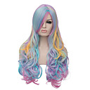 cheap Costume Wigs-the european and american fashion daily color highlights long wig party cos 1407