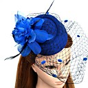 cheap Wedding Shoes-Feather / Net Fascinators / Flowers / Hats with Floral 1pc Wedding / Special Occasion Headpiece