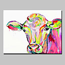 cheap Prints-Hand Painted Cow Oil Painting On Canvas Modern Abstract Wall Art Picture For Home Decoration Ready To Hang
